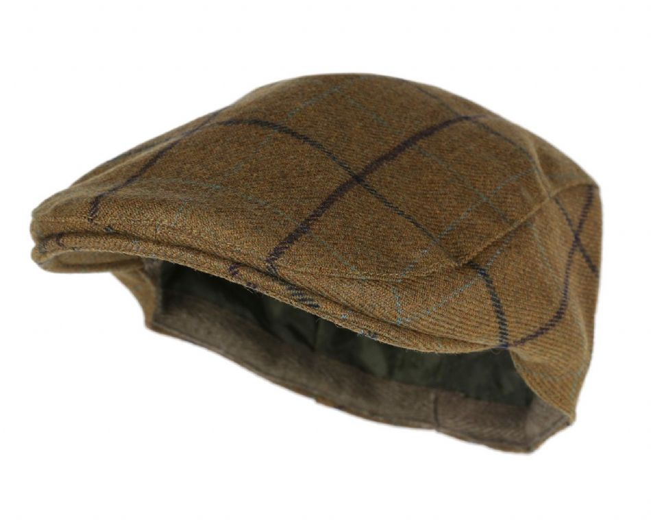 Highland Waterproof TWEED Flat Cap Traditional Country Hat Breathable New Wool